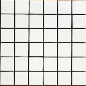 スーパーホワイト 特白 47角 モザイクタイル 1シート(36粒)単位の単価です 内壁、内床(浴室・キッチン カウンター・トイレ・テーブル)のDIYリフォームにお勧め。