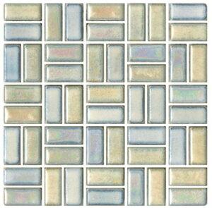 チロル シート販売(バスケットウェーブ貼り) 白ベージュ。内装壁のDIYに(200粒)おしゃれなデザイン、かわいい色と模様 レトロモダン風。キッチン・玄関・テーブル・洗面所のリフォーム