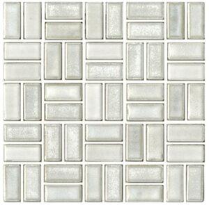 チロル シート販売(バスケットウェーブ貼り) 白。内装壁のDIYに(200粒)おしゃれなデザイン、かわいい色と模様 レトロモダン風。キッチン・玄関・テーブル・洗面所のリフォームにOK。壁