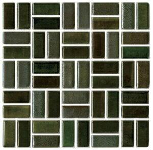 チロル シート販売(バスケットウェーブ貼り) 緑黒。内装壁のDIYに(200粒)おしゃれなデザイン、かわいい色と模様 レトロモダン風。キッチン・玄関・テーブル・洗面所のリフォームにOK。