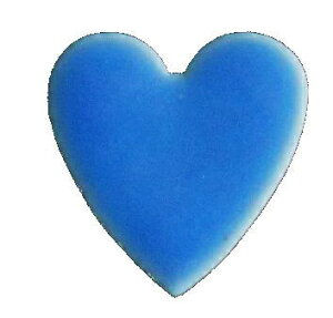 モザイクタイル シート 15角 ハート 磁器質 青。ミックスデザインタイル対応、おしゃれなアンティーク、レトロモダン風。キッチン・玄関・テーブル・浴室(風呂)洗面所のDIYリフォームに