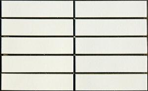 モザイクタイル ボーダー 白マット色(艶なし)磁器質 シート販売。デザインタイル、おしゃれなレトロモダン風。リビング・玄関・テーブル等のDIYリフォームにOK。インテリア建材・