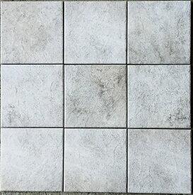 インディアンスレート 磁器 タイル 300角 アンティーク・エスニックなグレーホワイト 白色。防汚(汚れに強い)内装用・外装用・敷石(内・外床、玄関 ポーチ・ベランダ・ガーデニング・エントランスのDIYリフォームにお勧め)