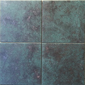 和銅 メタリック タイル 磁器質 300角 青磁色風 青緑色 メタル 金属 外床 内床 壁用 玄関 ポーチ 浴室 ガーデニング お庭 ベランダ バルコニー 土間 DIY リフォーム アンティーク エクステリア インテリア