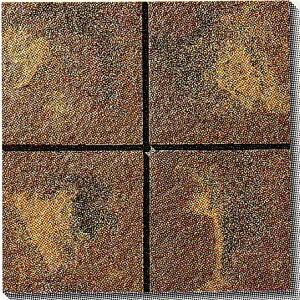 古窯クラフトタイル 茶 KY203 磁器タイル 床・壁用200角 大きな色むらアリ 1枚単位