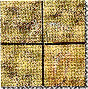 古窯クラフトタイル 茶 KY206 磁器タイル 床・壁用200角 大きな色むらアリ 1枚単位