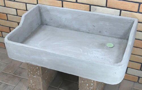 タイル流し台 ガーデンシンク用モルタル下地Lサイズ排水口右