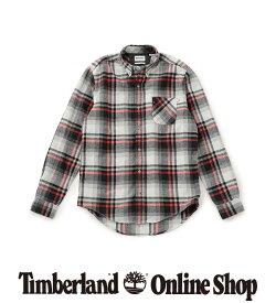 【公式】ティンバーランド メンズ 長袖 シェパーズ リバー ウール コットン フランネル シャツ Timberland