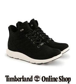【公式】ティンバーランド timberland メンズ フライローム ウォータープルーフ レザー チャッカ - ブラック Timberland