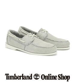 【公式】ティンバーランド メンズ シダーベイ ツーアイ ボートシューズ - ライトグレー Timberland
