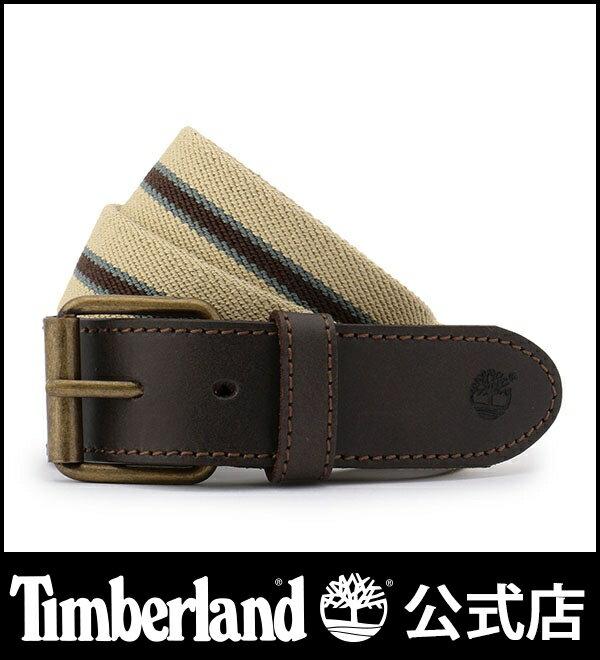 ティンバーランド timberland メンズ ストライプ キャンバス ストレッチ ベルト