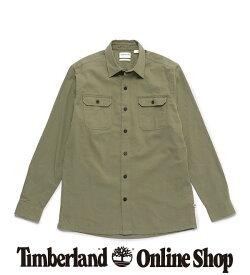 【公式】ティンバーランド メンズ 長袖 ターキー リバー ヘリンボーン シャツ Timberland