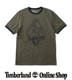 ポイント最大50%還元 : 1/24 (日) 10:00 - 1/28 (木) 9:59|【公式】ティンバーランド メンズ 半袖 ランドスケープ インスパイアード リンガー Tシャツ Timberland