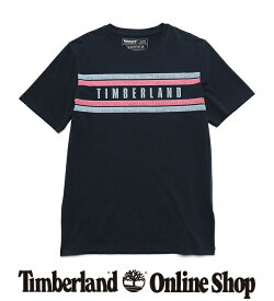 【公式】ティンバーランド メンズ 半袖 チェスト プレイスメント Tシャツ - ダークサファイア Timberland