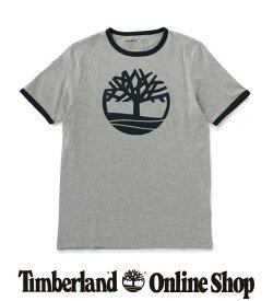 ポイント最大50%還元 : 1/24 (日) 10:00 - 1/28 (木) 9:59|【公式】ティンバーランド メンズ 半袖 ツリー ロゴ リンガー Tシャツ Timberland