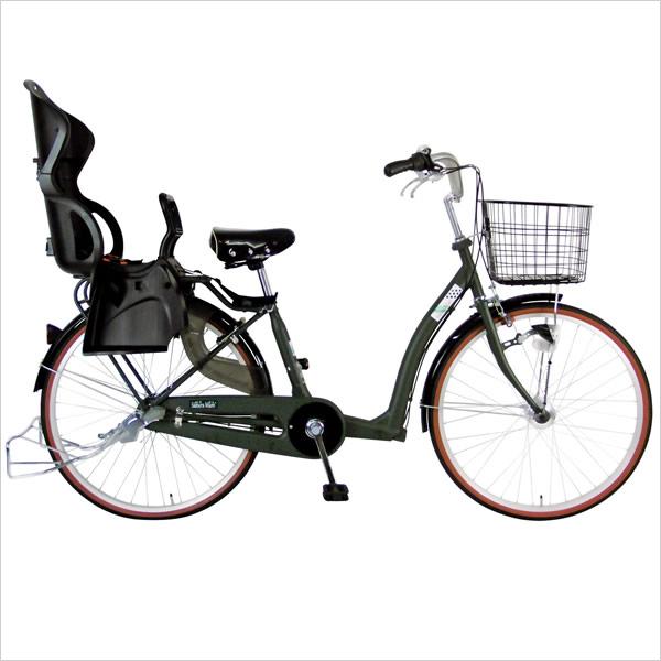 C.Dream/PROGEAR さくらママ 3人乗り自転車 26インチ LEDオートライト付 内装3段変速付 前後ろ子供乗せ取付可能 三人乗り自転車 ハイシート子供乗せ装備のDX子供乗せ専用自転車 シードリーム プロギア CDREAM ブランド 子供乗せ自転車 サイクリング 自転車 シティサイクル