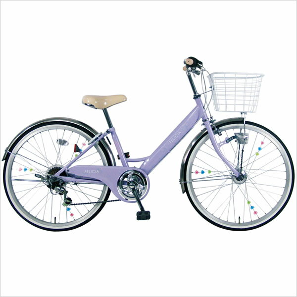 【送料無料】【スポーク飾り付】C.Dream/PROGEAR フェリシア 24インチ 6段変速付 オートライト付 女の子に人気のきれいで可愛いデザイン&カラー 子供用自転車 子ども自転車 シードリーム プロギア CDREAM ブランド 子供自転車 サイクリング 自転車 キッズ・ジュニア用自転車