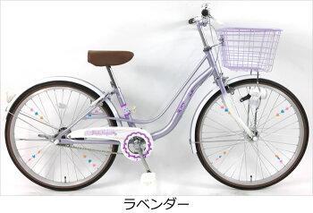 C.Dreamフルーツパフェ22インチ変速なしオートライト付軽い踏み心地女の子に人気のかわいいデザイン&カラーの子供用自転車子ども自転車激安価格シードリーム子供自転車CDREAM当店限定モデル22型