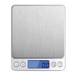デジタルスケール デジタルはかり キッチン 電子秤 クッキング 3kg 3000gまで 測り 0.1g単位 精密な計量器 図り 秤 計り 量り 旅行 風袋引き機能 キッチン クッキングスケール
