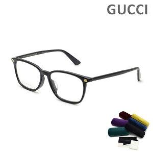 グッチ メガネ 眼鏡 フレーム のみ GG0156OA-001 ブラック アジアンフィット メンズ レディース ユニセックス GUCCI 【送料無料(※北海道・沖縄は1,000円)】