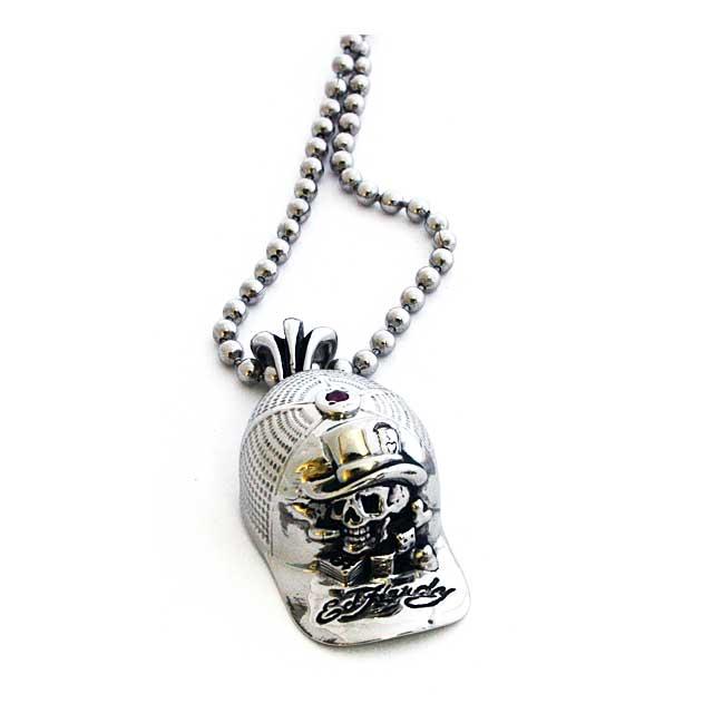 "Ed Hardy Jewelry(エドハーディー)""HAT SKULL""EHP02SRSS ペンダント【送料無料(※北海道・沖縄は1,000円)】【楽ギフ_包装選択】"