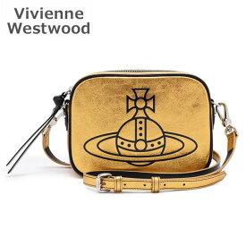 AW2019-20 ヴィヴィアンウエストウッド ショルダーバッグ 43030037-41024-R401 ゴールド Annie Camera Bag レディース 【送料無料(※北海道・沖縄は1,000円)】