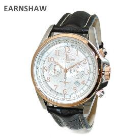 【国内正規品】 EARNSHAW (アーンショウ) 時計 腕時計 ES-8028-09 レザー ブラック/ゴールド メンズ ウォッチ クォーツ 【送料無料(※北海道・沖縄は1,000円)】【楽ギフ_包装選択】
