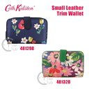 Cath Kidston(キャスキッドソン) 二つ折り財布 小銭入れ付き ラウンドファスナー Small Leather Trim Wallet スモール…