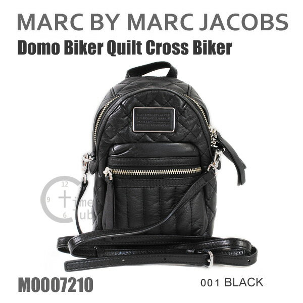 MARC BY MARC JACOBS マークバイマークジェイコブス ショルダーバッグ バッグ M0007210 001 BLACK ブラック 黒 Domo Biker Quilt Cross Biker キルト レザー 斜めがけ マーク・ジェイコブス 【送料無料(※北海道・沖縄は1,000円)】