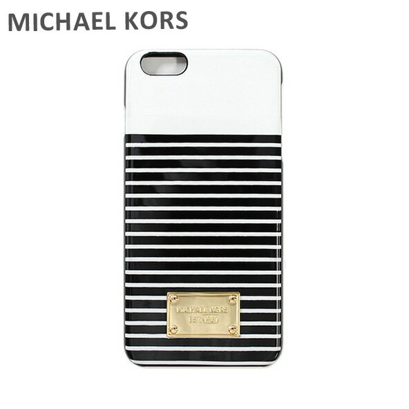 MICHAEL KORS iphone6splus ケース スマホケース iphone6 Plus マイケルコース 32S6GELL2R ブラック 黒 マリンボーダー マイケル コース 【送料無料(※北海道・沖縄は1,000円)】