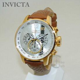 INVICTA (インビクタ) 腕時計 時計 19287 S1 Rally クロノグラフ ゴールド/ブラウン メンズ レザー インヴィクタ 【送料無料(※北海道・沖縄は1,000円)】