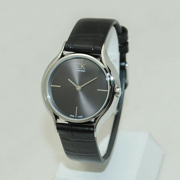 Calvin Klein CK (カルバンクライン) 時計 腕時計 K2U231C1 シルバー/ブラック レザー レディース ウォッチ クォーツ 【送料無料(※北海道・沖縄は1,000円)】