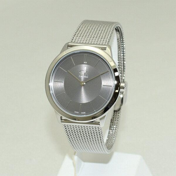 Calvin Klein CK (カルバンクライン) 時計 腕時計 K3M22124 グレー/シルバー ブレス レディース ウォッチ クォーツ 【送料無料(※北海道・沖縄は1,000円)】