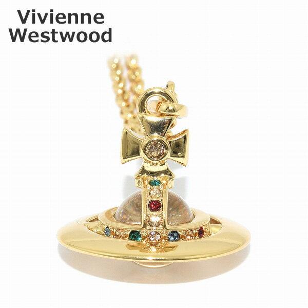 Vivienne Westwood (ヴィヴィアンウエストウッド) ペンダント ネックレス 752014B/2 タイニーオーブ ゴールド アクセサリー メンズ レディース 【送料無料(※北海道・沖縄は1,000円)】