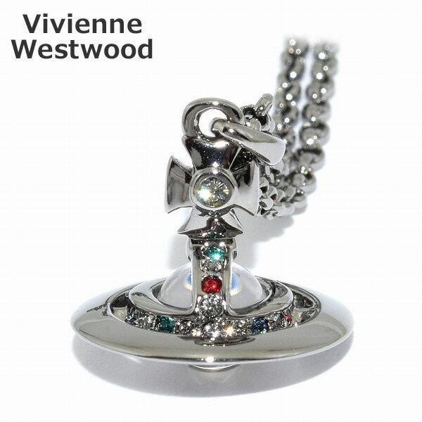【楽天スーパーSALE限定価格】Vivienne Westwood (ヴィヴィアンウエストウッド) ペンダント ネックレス 752116B/4 Petite Orb Pendant オーブ ガンメタル アクセサリー メンズ レディース 【送料無料(※北海道・沖縄は1,000円)】