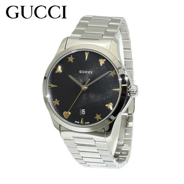 GUCCI(グッチ) 時計 腕時計 YA1264029 Gタイムレス ブレス シルバー/ブラック メンズ 【送料無料(※北海道・沖縄は1,000円)】