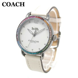 8901a2463a17 コーチ 腕時計 レディース 14502888 COACH DELANCEY デランシー シルバー/ホワイト レザー 時計 ウォッチ 【送料無料
