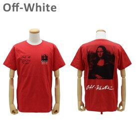 オフホワイト Tシャツ モナリザ レッド MONNALISA S/S SLIM TEE OMAA027 S19-1850052010 Off-White 【送料無料(※北海道・沖縄は1,000円)】