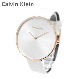 Calvin Klein CK カルバンクライン 時計 腕時計 K8Y236L6 FULL MOON ピンクゴールド/ホワイト レザー レディース ウォッチ クォーツ 【送料無料(※北海道・沖縄は1,000円)】