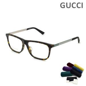 グッチ メガネ 眼鏡 フレーム のみ GG0696OA-002 ハバナ アジアンフィット メンズ GUCCI 【送料無料(※北海道・沖縄は1,000円)】