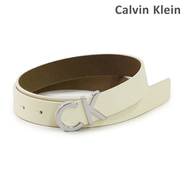 カルバンクライン ベルト Calvin Klein K60K602356 レディース レザー 102 アイボリー 海外正規品 【送料無料(※北海道・沖縄は1,000円)】