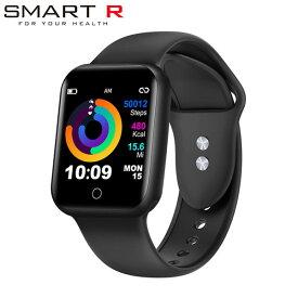 【国内正規品】 SMART R スマートウォッチ NY07 BK ブラック メンズ レディース 腕時計 スマートR 【送料無料(※北海道・沖縄は1,000円)】