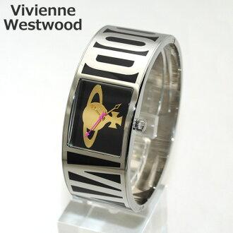 Vivienne Westwood(维维恩维斯特伍德)手表VV084BK黑色/银子钟表女士维维恩时间机器手镯