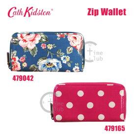 Cath Kidston(キャスキッドソン) 長財布 小銭入れ付き Zip Wallet ジップウォレット 479042 479165 花柄 ローズ ドット柄 レディース