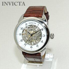 インビクタ 腕時計 INVICTA 時計 17187 Specialty ブラウン/シルバー/ホワイト メンズ レザー インヴィクタ 【送料無料(※北海道・沖縄は1,000円)】