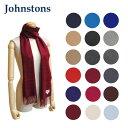 2017-18秋冬 Johnstons ジョンストンズ カシミア ストール マフラー Cashmere Plains WA000016 無地 Plain カシミ...
