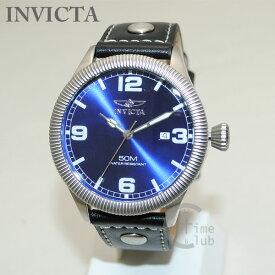 インビクタ 腕時計 INVICTA 時計 1459 Vintage ヴィンテージ ブラック レザー/シルバー/ブルー メンズ インヴィクタ 【送料無料(※北海道・沖縄は1,000円)】