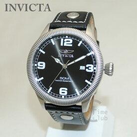 インビクタ 腕時計 INVICTA 時計 1460 Vintage ヴィンテージ ブラック レザー/シルバー メンズ インヴィクタ 【送料無料(※北海道・沖縄は1,000円)】