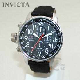 インビクタ 腕時計 INVICTA 時計 1512 Force フォース ブラック キャンバス レザー/シルバー メンズ インヴィクタ 【送料無料(※北海道・沖縄は1,000円)】