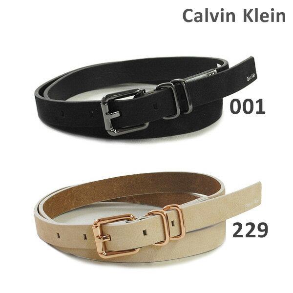 カルバンクライン ベルト Calvin Klein K60K602453 001 ブラック 229 ベージュ レディース レザー 海外正規品 2017SS 【送料無料(※北海道・沖縄は1,000円)】